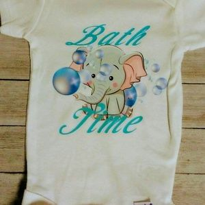 Bath time kids onesie baby clothes